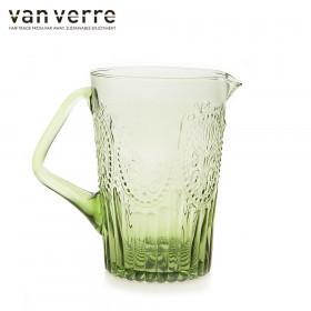 Barvni vrč za vodo Fleur de Lys zelena